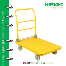 Hand push collapsible warehouse trolley cart