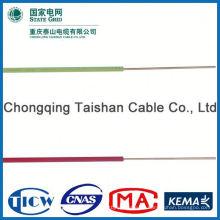 Profesional de cable de fábrica Fuente de alimentación negro alambre utilizado en la construcción de edificios