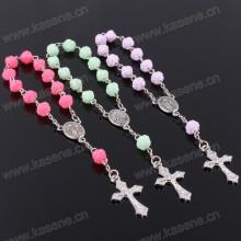 Art- und Weiseplastikblumen-Korn-heiliges katholisches Rosenkranz-Gebet-Armband