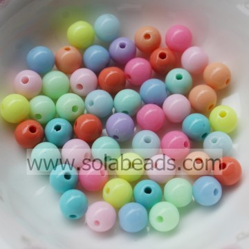 Xmas Decoration 30mm  Crystal Plastic Round Ball Tiny beads