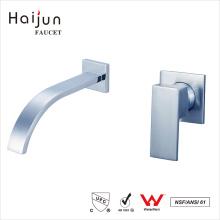 Haijun promocional de una sola manija montado en la pared de ahorro de agua grifo de latón lavabo