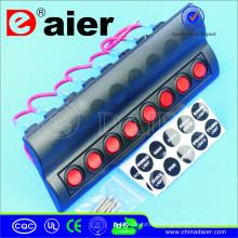Marine-Wand-Panel 12V LED mit 8 Druck Circute Unterbrechern