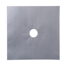 Silver Reusable Gas Stove Cleaning Mat
