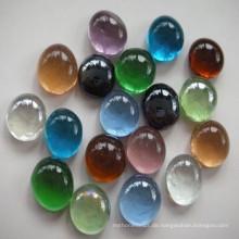 Bunte flache Glas Marmor für zu Hause Dekoration