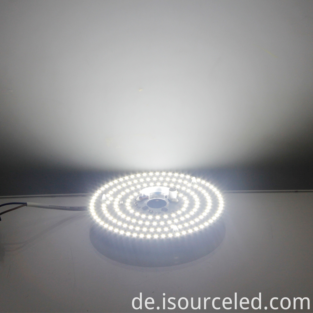 Lighting and color adjustable 15W positive white LED ceiling lamp module