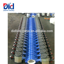 Dn50 Wafer Type Installation 3 Spear Jamesbury Cast Seat Design Pneumatic Butterfly Valve Ductile Iron
