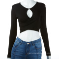 Spicy Lady Sexy Hollow-out Dress Soft Long-sleeve T-shirt Clothing