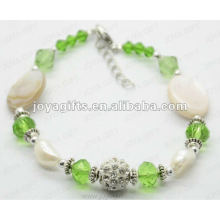 Мода 2012 Joya Зеленый стеклянный бисером ножной браслет