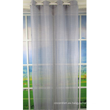 Tela decorativa de cortinas transparentes de la ventana del hogar