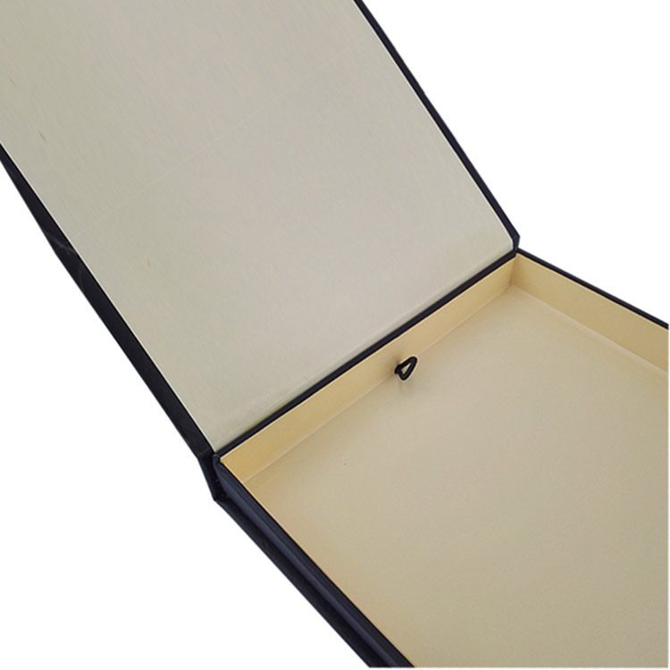 Black gift packaging box for book and pen