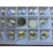 Crystal Ab Hot Fix Rhinestones con pegamento en varias formas