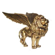 2018 hot sale golden bronze winged lion statue