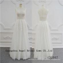 Vestido de novia de encaje superior