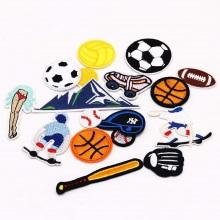 Patches de broderie de football de décoration brodés personnalisés