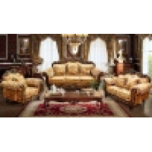 Sofá de madeira da tela para a mobília da sala de visitas (D929)