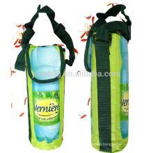 Functional Drawstring Jute Wine Boottle Cooler Bag