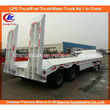 Heavy Duty 2 Axle Low Bed Semi Trailer with Mechanical Ramps