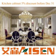 Seville 2014 Aisen New Design PVC Kitchen Cabinet Wooden Cabinets Hangzhou