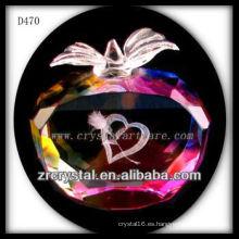 K9 3D Laser Love dentro de Crystal Apple colorido