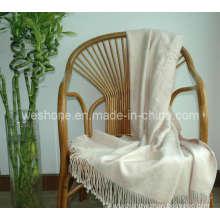 Bamboo Throw, Bamboo Blanket, Bamboo Fiber Throw Bt-F070330-Cream