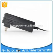 Tipo de montaje en pared adaptador de corriente alterna 12v 5a la fuente de alimentación con certificado UL KC