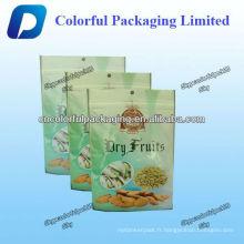 Le bon sac en plastique aseptique d'emballage sac sec de nourriture / écrous trois sacs à vide de joint latéral avec le trou de main