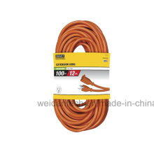 12-3 100′ General Purpose Outdoor Orange Power Extension Cord