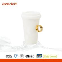 Nuevo llega taza de café de cerámica de encargo caliente de la venta