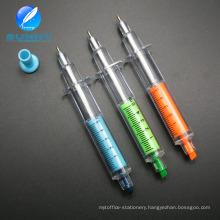 Multi Color Promotional Syringe Highlighter Pen with Ballpen 2 in 1 Pen