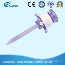 Trocar de plástico descartável laparoscópico