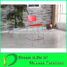 red pp bar stool high chair