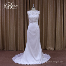 Silk Georgeous Lace Beach Factory Sale Wedding Gown