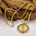 Hip Hop Mens Gold Lion Head Naszyjnik