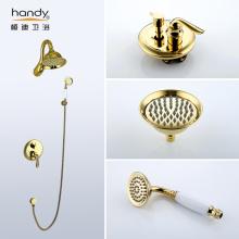 Gold Color Antique Bathroom Faucet