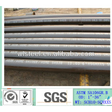precio de la tubería de acero inconsútil de sa 179 sch80 carbono