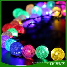 Декоративные солнечные лужайки огни красочные Открытый 50 LED красочные пузырь солнечный свет строки на Рождество свадьбу