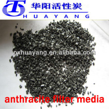 fixierter Kohlenstoff 80-90% min Anthrazit Filtermedien in alkalischer Wasseraufbereitung