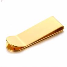 Simple design steel plain birthday gift for lover money clip