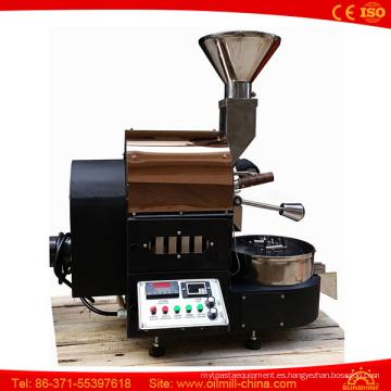 La curva superior de la temperatura del alto grado del vendedor guarda el asador del grano de café