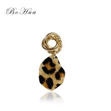 The new unique leopard pendant earrings wholesale jewelry women's earrings