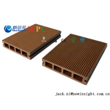 Decking de WPC de plancher d'ingénierie de 140 * 25mm avec le prix modéré