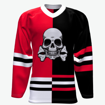 Custom Team Sport Wear Grosir Murah Pewarna Sublimasi Slim Fit Ice Hockey Jersey