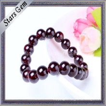 Natural 10mm Garnet Bracelet