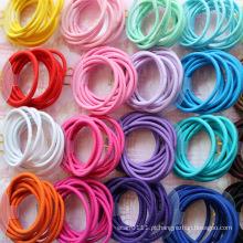 10 peças de cartão embalado cores misturadas bandas de cabelo de borracha (je1503)
