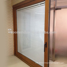 Doorwin shenzhen glass products natural finished lift sliding door with security shutters