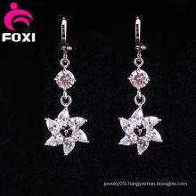 Wholesale Flower Latest Gold Hanging Earrings