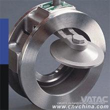 Обратный клапан с однодисковым поворотным валом