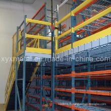Rack de palette Support en acier Mezzanine Floor Multi-Layer Racking