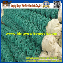 PVC/Plastic Coated Chain Link Fences for Construction
