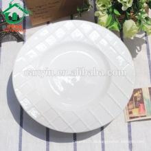 Platos de cena blancos hechos a medida calientes baratos para el restaurante